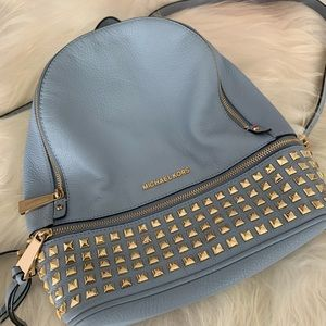 Michael Kors Leather Backpack, medium with studs